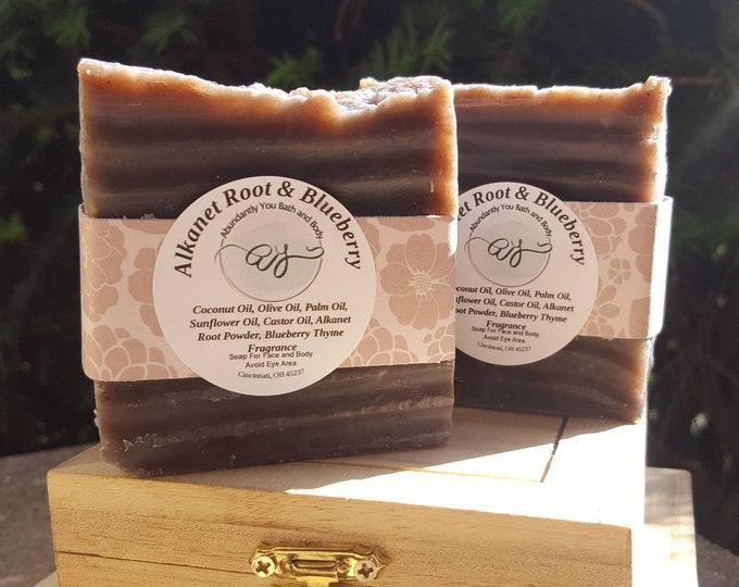 Blueberry Soap Bar | Alkanet Root | Vegan | Soap Bar | Vegan Soap | Fragrance Soap | Rustic Soap | Artisan Soap | Fragrance Free Option