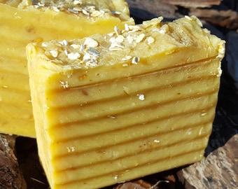 Honey and Oatmeal Goats Milk Soap for Dry Skin | Handmade Vegan Soap
