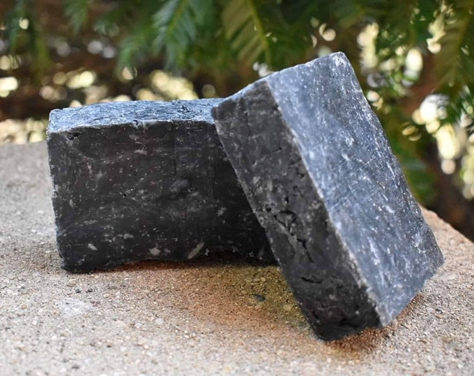 Activated Charcoal and Sea Salt Soap with Lemongrass-Lavender Oil Blend