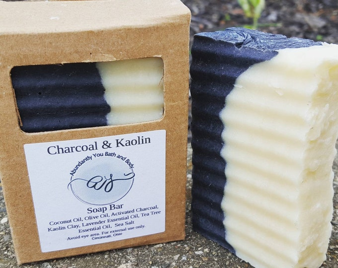 Featured listing image: Charcoal and Kaolin Clay Vegan Soap Bar
