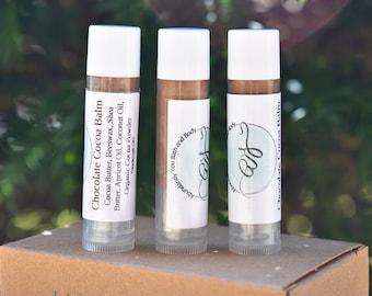 Chocolate Lip Balm | Beeswax Moisturizing Natural Lip Balm
