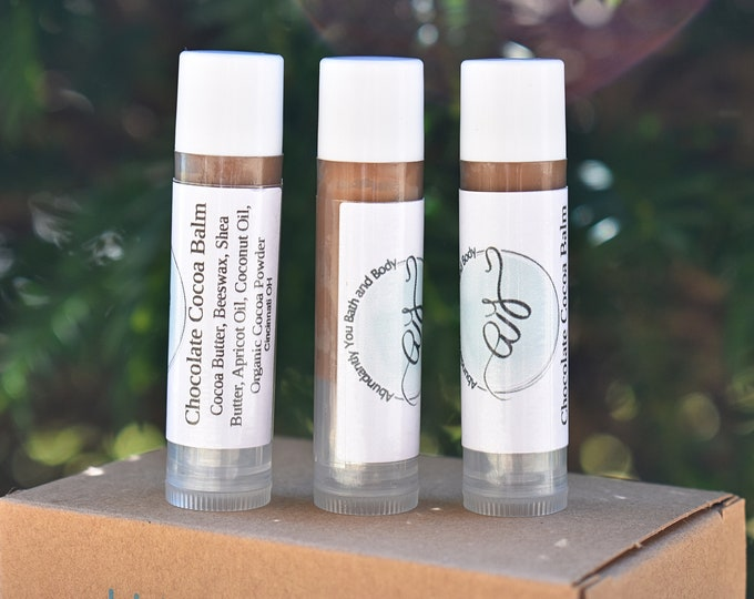 Chocolate Lip Balm | Beeswax Moisturizing Natural Lip Balm