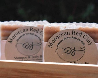 Moroccan Red Clay Soap Cleansing Bar