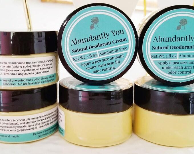 Natural Deodorant Lemon Mint   Aluminum Free, Gentle
