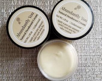 Natural Deodorant Cream, Cedarwood Essential Oil, Handmade Deodorant, Aluminum Free