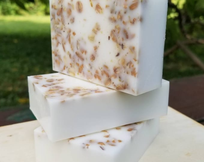 Goat Milk and Oatmeal Soap with Honey Almond Scent