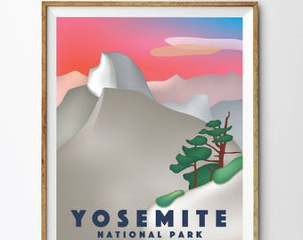 Yosemite Poster, PRINTABLE Yosemite National Park Kid nursery Modern home decor (#P369)