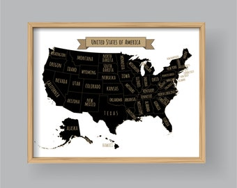 Us Map Artwork.Usa Map Artwork Etsy