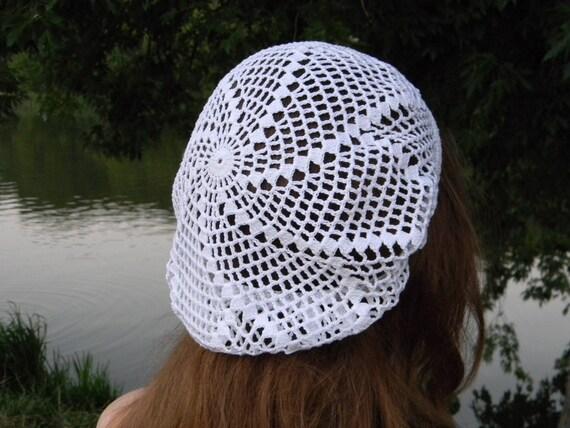 Sommer Beanie Haare Haarnetz Für Frauen Baumwolle Häkeln Hut Etsy
