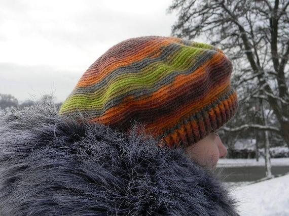 Wollen Baret Voor Vrouwen Winter Haak Warme Baret Die Groene Etsy