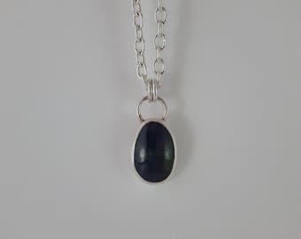Azurite Pendant . Sterling Silver Pendant . Handmade Pendant