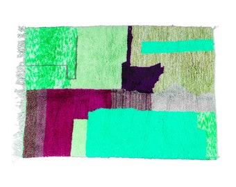 green Beni ourain rug -  Modern Moroccan Rug custom TK-01_GR-01_RD-17_PN-34_GR-12_GY-36_GY-37_GR-13_GR-14_PR-19