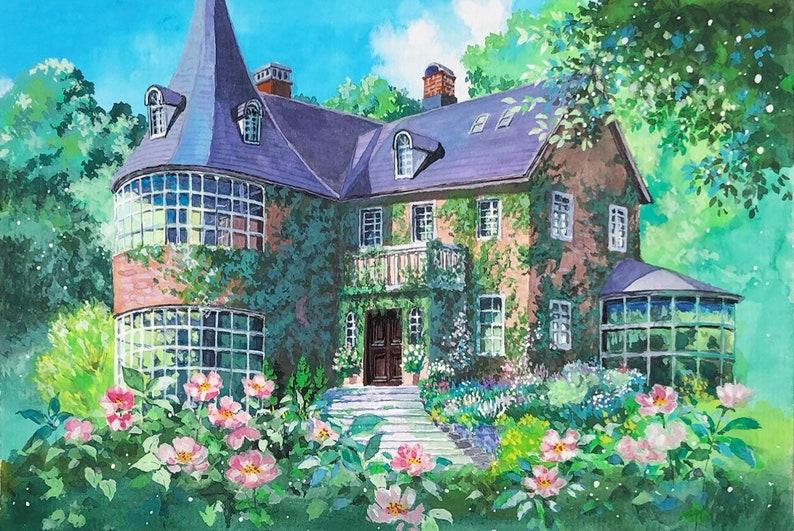 Ghibli Background Canvas Print anime background