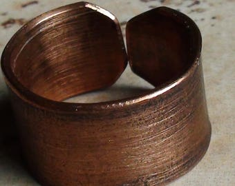 Brushed Copper Rings
