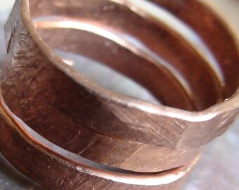 Hammered Copper Wire Rings