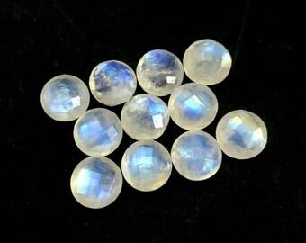 9-11x5.5-6mm 25/% sale 12 strand Rainbow Blue Fire Moonstone Micro Faceted Teardrop Briolette