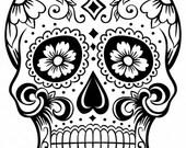 Sugar Skull SVG File (2)