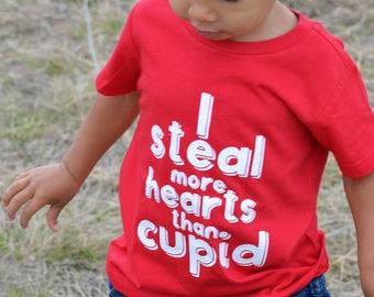 Stealing hearts - Cupid shirt - Valentine shirt - Boys valentine shirt - Valentines outfit - Boy valentines shirt - Vday shirt for boys