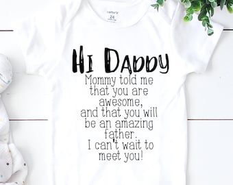 Hi Daddy - Baby announcement husband - Pregnancy announcement for husband - Hello daddy - Baby reveal - Daddy to be - pregnancy reveal