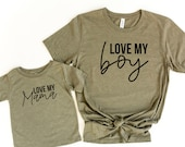 Love my Boy - Just a mama who loves her boy - Matching Tees for Mother 39 s Day - Gift for Mother 39 s Day - Matching t-shirts for kids and mama