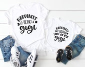 Gigi gifts they love - Matching Grandma and granddaughter shirt - Grandson matching - They call me gigi - Happiness is being a gigi