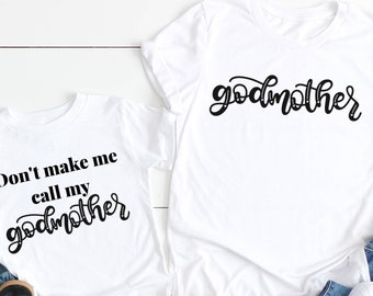 a4d589cc Godmother outfit Godmother proposal gift Will you be my godmother don't  make me call my godmother godmother and me matching shirts