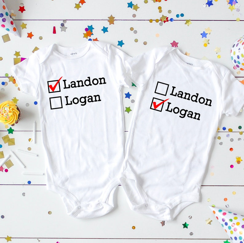 Personalized Twin Gifts Baby Shower Gift For Twins New Etsy