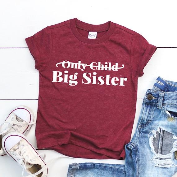 Big sister announcement shirt Big sister youth tee Birth ...