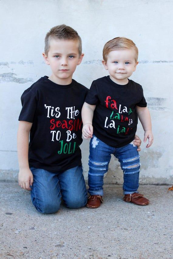 Geschwister Weihnachten Hemden Geschwister Weihnachtsoutfits | Etsy