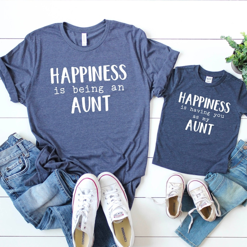 0eeb8c57 Nephew and aunt Auntie niece matching shirts Aunt shirt   Etsy