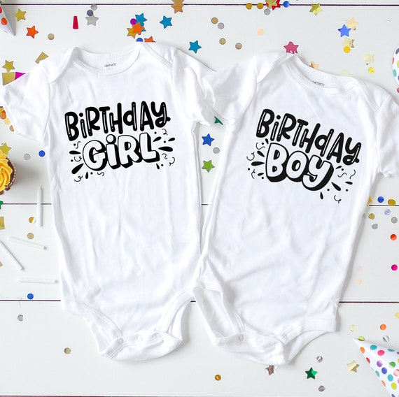 91e0d88e5d1aa Boy girl twin birthday outfit Twin birthday outfits Twin   Etsy