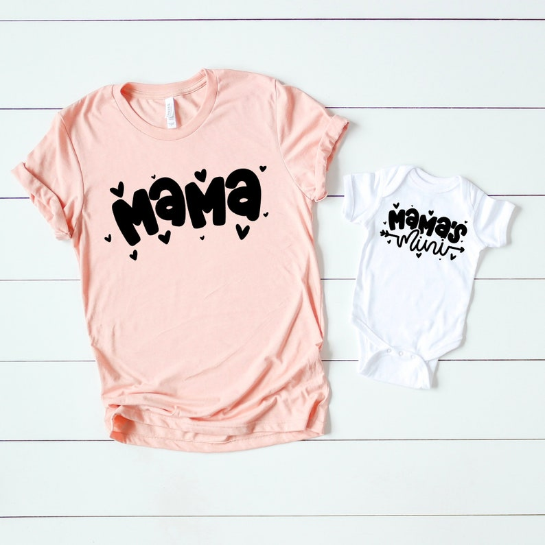 ca48f8d587 Set of 2 shirts Mommy and me outfits Matching mother