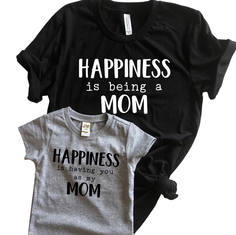 e1b0c9ecd79a1 Mother's day matching shirts - Mommy and son outfits - mommy and daughter  matching - Mommy and me shirts - Happiness is being a mom