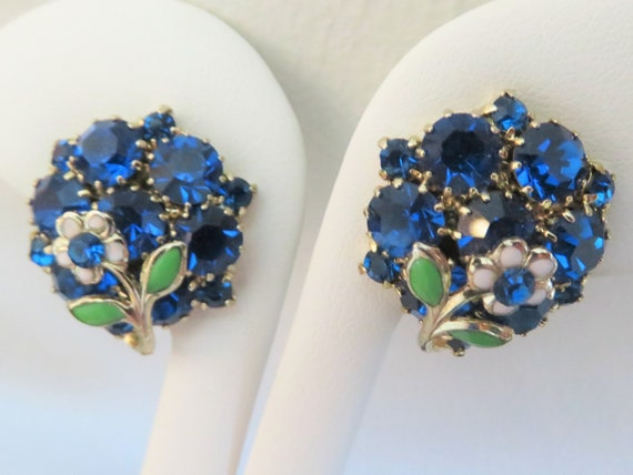 Vintage 1970/'s Silver Snowflake Flower Floral Twisted Cluster Leaves Naturalistic Medium Statement Clip On Earrings