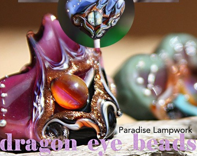 Featured listing image: Tutorial Lampwork Dragon Eye Beads eBook Step by Step