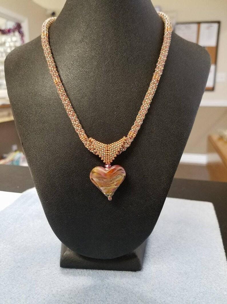 Ocean Dreamer Raku Heart glass lampwork bead for Jewelry Design Focal handmade Jenelle Aubade
