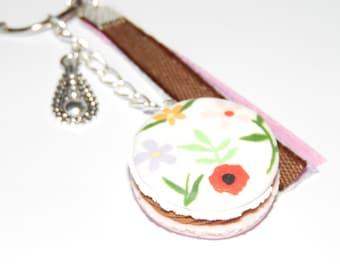 Floral badge key holder