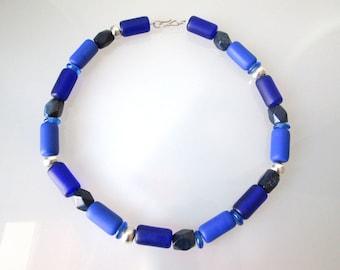 Necklace Lapis statement Chain