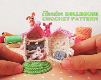CROCHET PATTERN: Crochet Dollhouse, Amigurumi Doll, Miniature Doll ... | 270x340