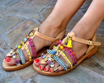31f9c2b719e448 FREE SHIPPING Boho Greek Sandals