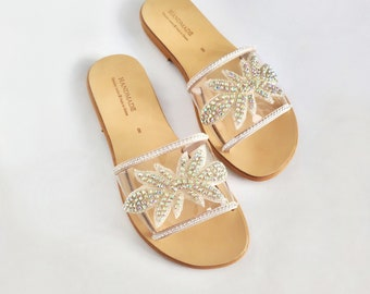 ad60c594f09cf Bling slide sandals   Etsy