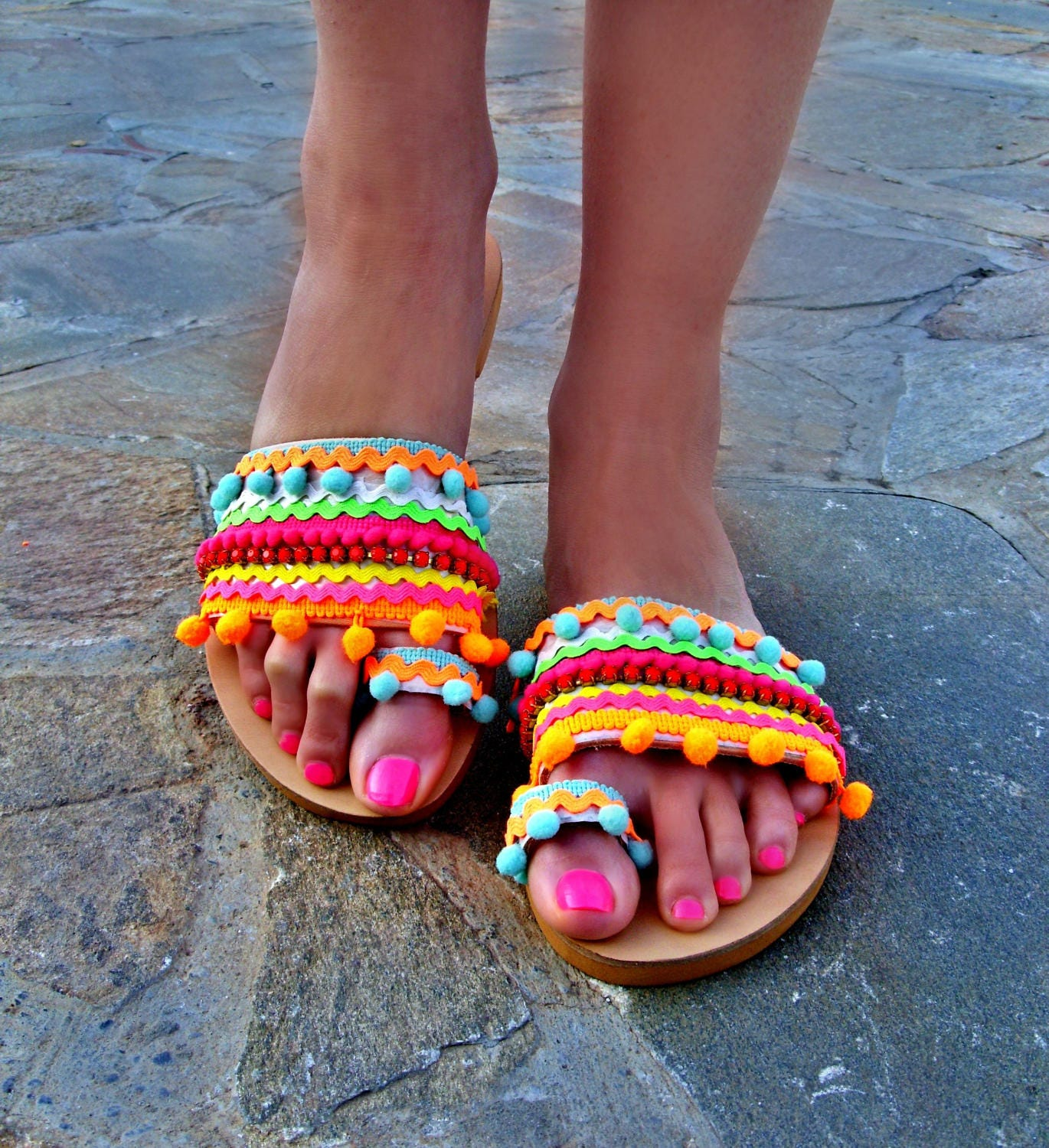 5e780dd725311 FREE SHIPPING Colorful Sandals