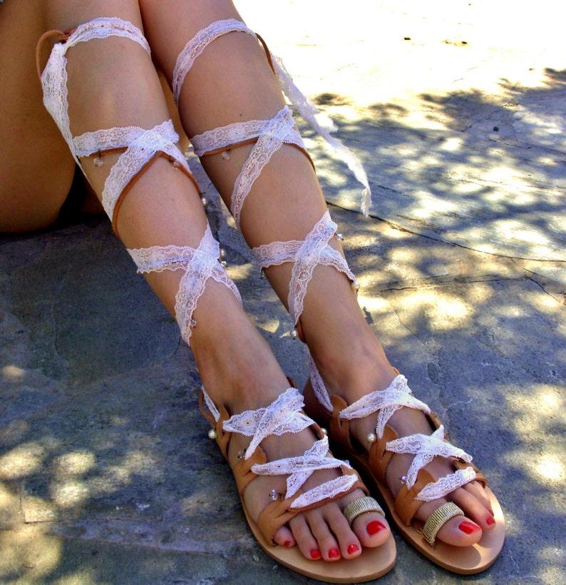 ad8a094d155a5 FREE SHIPPING Bridal Sandals Lillium   Boho