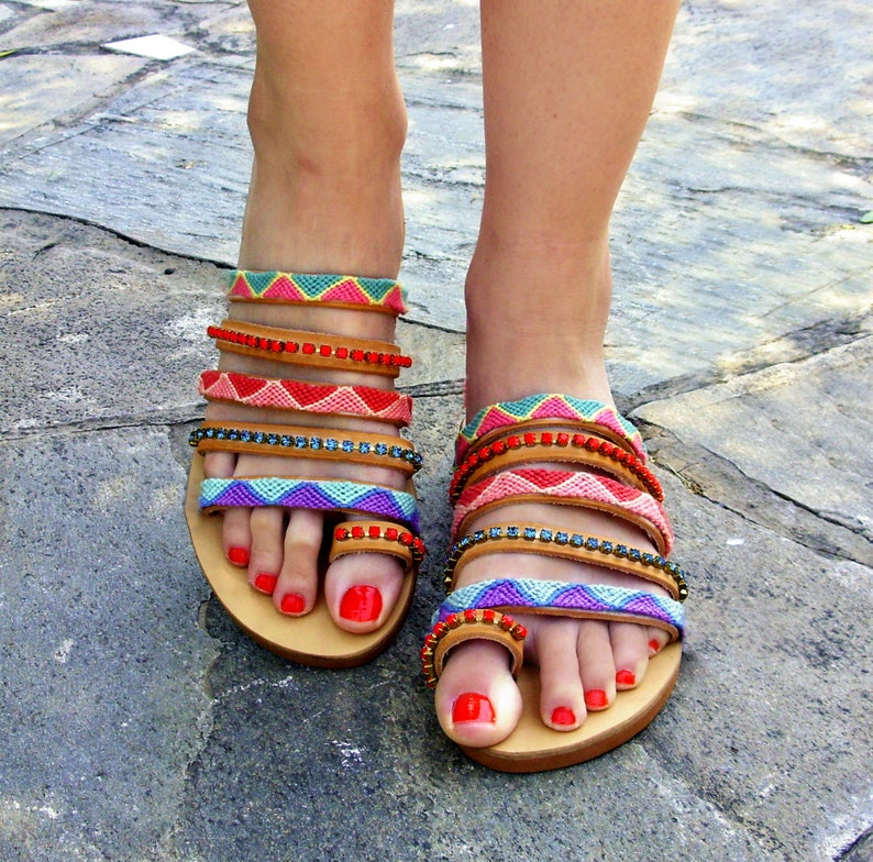 f5bca7779020 FREE SHIPPING Strappy Leather Sandals Coral Reef