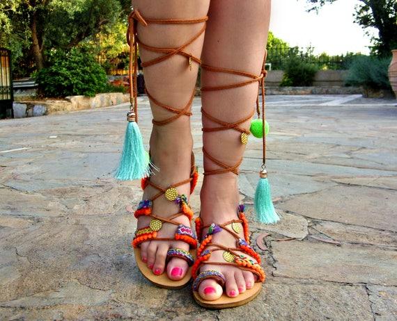 470aadfbed406 FREE SHIPPING Boho Gladiator Sandals   Leather Sandals