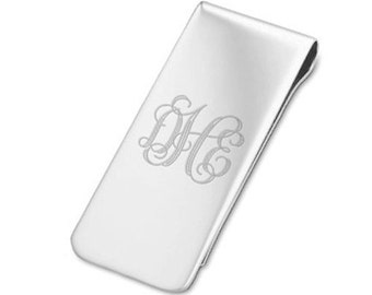 2ea12186d645 925 Sterling Silver Money Clip - Personalized Money Clip - Father s Day  Gift - Grandpa - Grandfather - Groomsmen - Engraved Money Clip