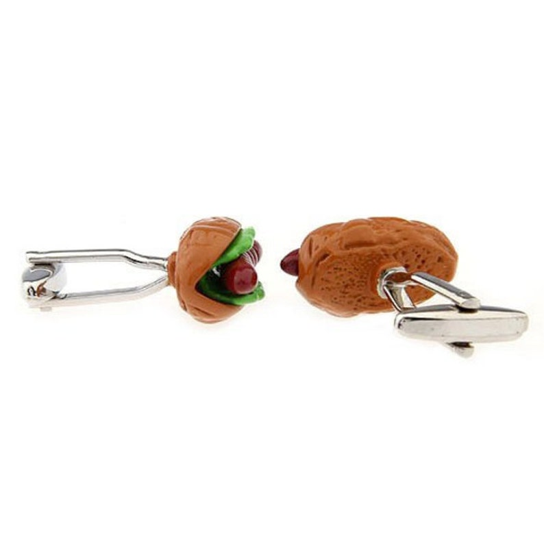 Groomsmen Cufflinks Best Gift For Dad Gifts for Him Jewelry For Men Groomsmen Gifts Hot Dog Silver Tone CuffLinks