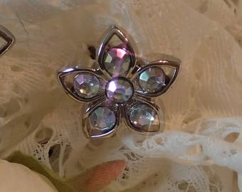 Sparkle Flower Hair Pin