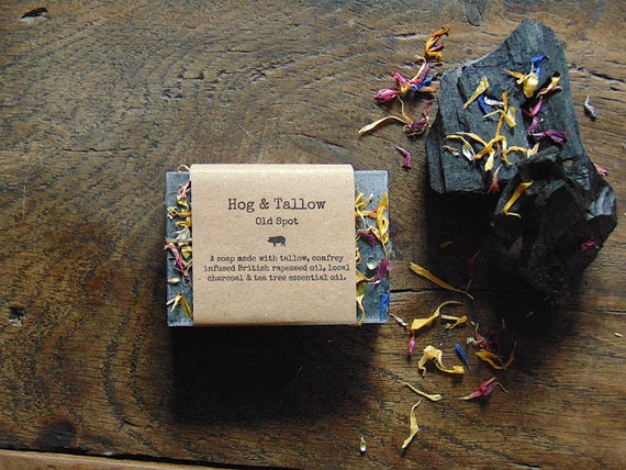 Old Spot - a soap made with local charcoal and scented with tea tree oil