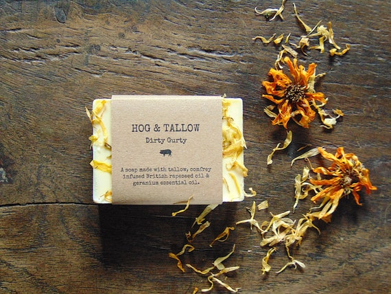 Dirty Gurty - a handmade geranium oil soap